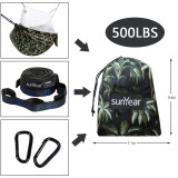 Copy Sunyear Hammock Camping with Net/Netting Mosquito & 2 Tree Straps (16+1 Loops Each,20Ft Total), Portable Nylon Parachute Hammocks for Outdoor Indoor Backpacking Survival & Travel