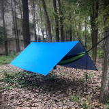 Copy Sunyear Hammock Rain Fly Tent Tarp Provides Effective Protection Against Rain, Snow. Big 9.8x9.5ft Durable, Waterproof 210D Oxford. 13ft Long Ridgeline, 6 Guy Lines, 2 Stuff Sacks. Easy Assembly