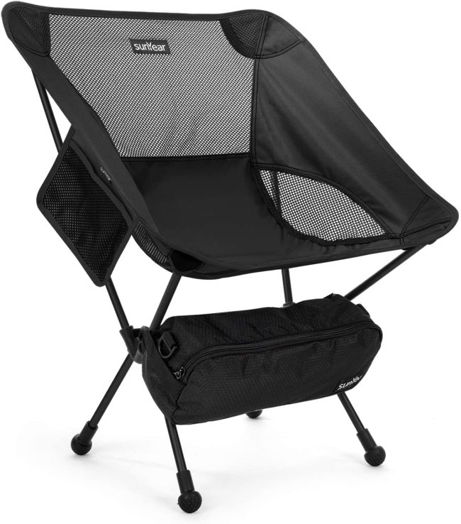 Sunyear Lightweight Compact Folding Camping Backpack Chairs, Portable, Breathable Comfortable, Perfect for Outdoor,Camp,Hiking,Picnic