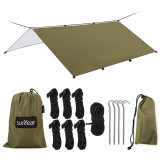 Sunyear Hammock Rain Fly Tent Tarp Provides Effective Protection Against Rain, Snow. Big 9.8x13.1ft Durable, Waterproof 210D Oxford. 13ft Long Ridgeline, 6 Guy Lines, 2 Stuff Sacks. Easy Assembly