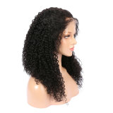Curly Glueless Virgin Human Hair Full Lace Wigs 150%