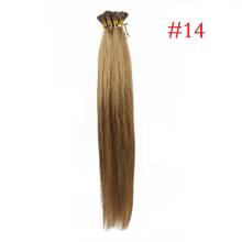 1g/s 100g Human Virgin Hair #14 Ash Blonde Pre-bonded Keratin Stick I-tip Hair Extensions