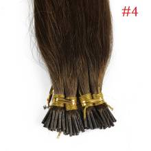 1g/s 100g Human Virgin Hair Chocolate Brown Pre-bonded Keratin Stick I-tip Hair Extensions