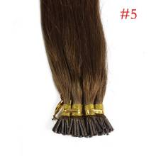 1g/s 100g Human Virgin Hair Brown Straight Keratin Stick I-tip Hair Extensions