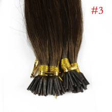 1g/s 100g Human Virgin Hair #3 Brown Pre-bonded Keratin Stick I-tip Hair Extensions