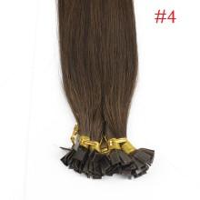 1g/s 100g Human Virgin Hair #4 brown Pre-bonded Keratin Flat Hair Extensions