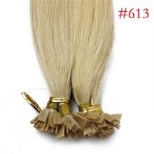 1g/s 100g Human Virgin Hair #613 Blonde Pre-bonded Keratin Flat Hair Extensions
