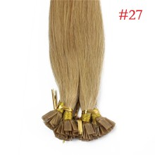 1g/s 100g Human Virgin Hair #27 Honey Blond Pre-bonded Keratin Flat Hair Extensions