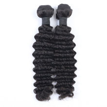 Virgin Human Hair Weave Brazilian Deep Wave Natural Color