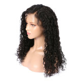 Curly Natural Color Virgin Brazilian Human Hair 360 Lace Wigs 150% Density