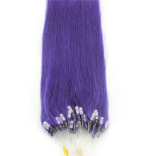 Full Head 100g Violet Purple Micro Loop Ring Remy Human Hair Extensions