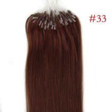 #33 Auburn Rich Copper Red Remy Human Hair 100g Micro Loop Ring Hair Extensions