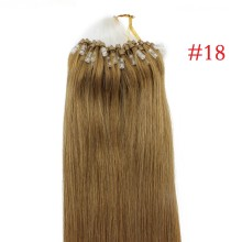 Easy Loop #18 Ash Blonde Remy Human Hair Extensions 100g Micro Loop Ring Hair