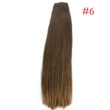 Easy Loop #6 Brown Remy Human Hair Extensions 100g Micro Loop Ring Hair