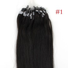1g/s 100g Black Micro Ring Loop Remy Human Hair Extensions