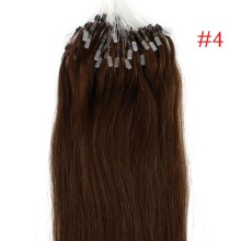 Easy Loop #4 Brown Remy Human Hair Extensions 100g Micro Loop Ring Hair