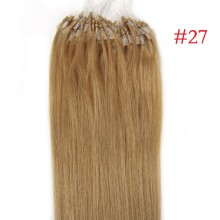 Easy Loop #27 Honey Blonde Remy Human Hair 100g Micro Loop Ring Hair Extensions