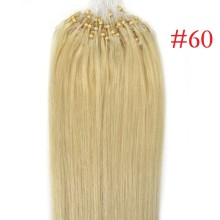 Full Head 100g #60 Pale Blonde Micro Loop Ring Remy Human Hair Extensions