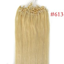 Full Head 100g #613 Pale Blonde Micro Loop Ring Remy Human Hair Extensions