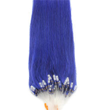Full Head 100g Blue Micro Loop Ring Remy Human Hair Extensions