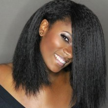 Kinky Straight Virgin Brazilian Human Hair Full Lace Wigs