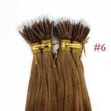 Brown #6 Real Remy Human Hair 100g Micro Nano Ring Hair Extensions