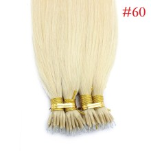 Platinum Blonde #60 Real Remy Human Hair 100g Micro Nano Ring Hair Extensions