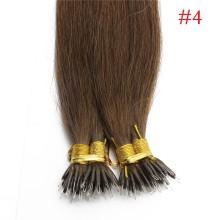 Dark Brown #4 Real Remy Human Hair 100g Micro Nano Ring Hair Extensions