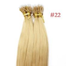 Medium Blonde #22 Real Remy Human Hair 100g Micro Nano Ring Hair Extensions
