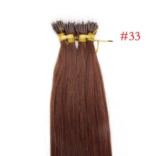 Auburn #33 Rich Copper Red Real Remy Human Hair 100g Micro Nano Ring Hair Extensions