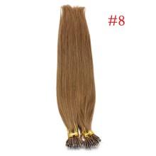 Medium Ash Brown #8 Real Remy Human Hair 100g Micro Nano Ring Hair Extensions