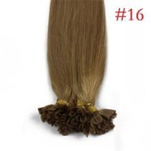 100% Human Hair Capsules #16 Honey Blonde Nail Tip Hair Silky Straight Keratin Fusion U Tip Hair Extensions 100s/lot