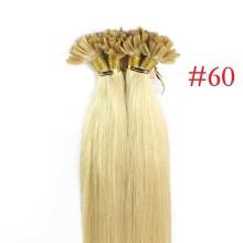 100% Human Hair Capsules #60 Blonde Nail Tip Hair Silky Straight Keratin Fusion U Tip Hair Extensions 100s/lot