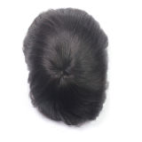 Hand Tied Men's Replacement Toupee With PU