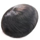 Men's PU Toupee Virgin Indian Remy Hair