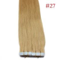40pcs 100g PU Tape #27 Honey Blonde Brazilian Human Virgin Remy Hair Extensions