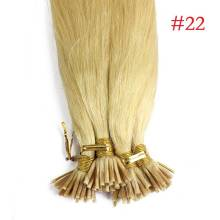 1g/s 100g Human Virgin Hair #22 Medium Blonde Pre-bonded Keratin Stick I-tip Hair Extensions