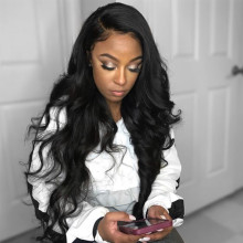Body Wavy Natural Lace Front Wigs Indian Remy Hair