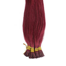 1g/s 100g Human Virgin Hair Burgundy Pre-bonded Keratin Stick I-tip Hair Extensions