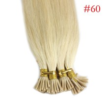 1g/s 100g #60 Light Blonde Pre-bonded Keratin Stick I-tip Human Hair Extensions