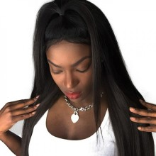 Brazilian Virgin Human Hair Lace Front Wig Natural
