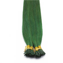 1g/s 100g Human Virgin Hair Green Pre-bonded Keratin Stick I-tip Hair Extensions