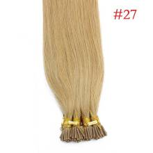 1g/s 100g Human Virgin Hair #27 Honey Blonde Keratin Stick I-tip Hair Extensions