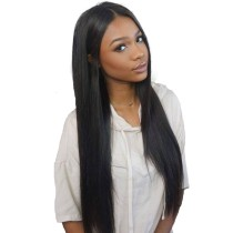 13*6 Deep Parting Human Hair Lace Front Wigs Silky Straight Brazilian Virgin Hair