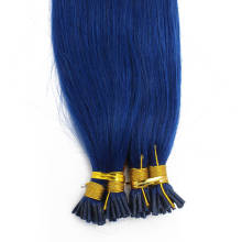1g/s 100g Human Virgin Hair Blue Pre-bonded Keratin Stick I-tip Hair Extensions