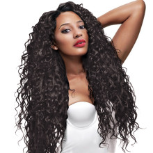 Indian Remy Hair Front Lace Curly Wigs Natural Color