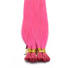 1g/s 100g Human Virgin Hair Pink Straight Keratin Stick I-tip Hair Extensions