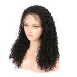 Curly Deep Parting Natural Black Human Hair Wigs