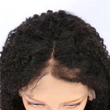 Tight Curly Natural Black Indian Remy Hair Lace Front Wigs