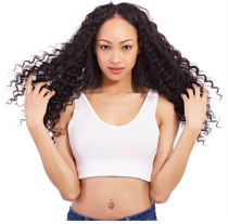 Curly Lace Front Wigs Natural Black 100% Human Hair Wigs